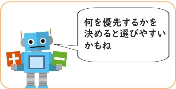 ロボット教室優先順位