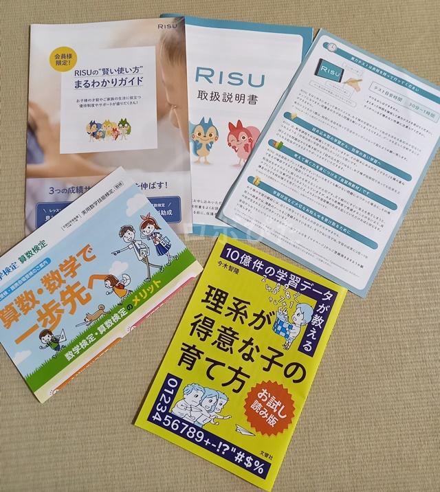 RISU算数体験用教材中身